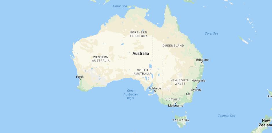 Australia Map 2017.Australia Map Hotel Gift
