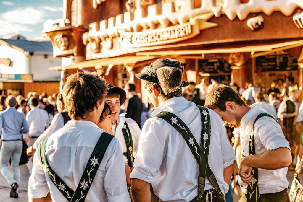 people enjoying a beer outside in Munich
