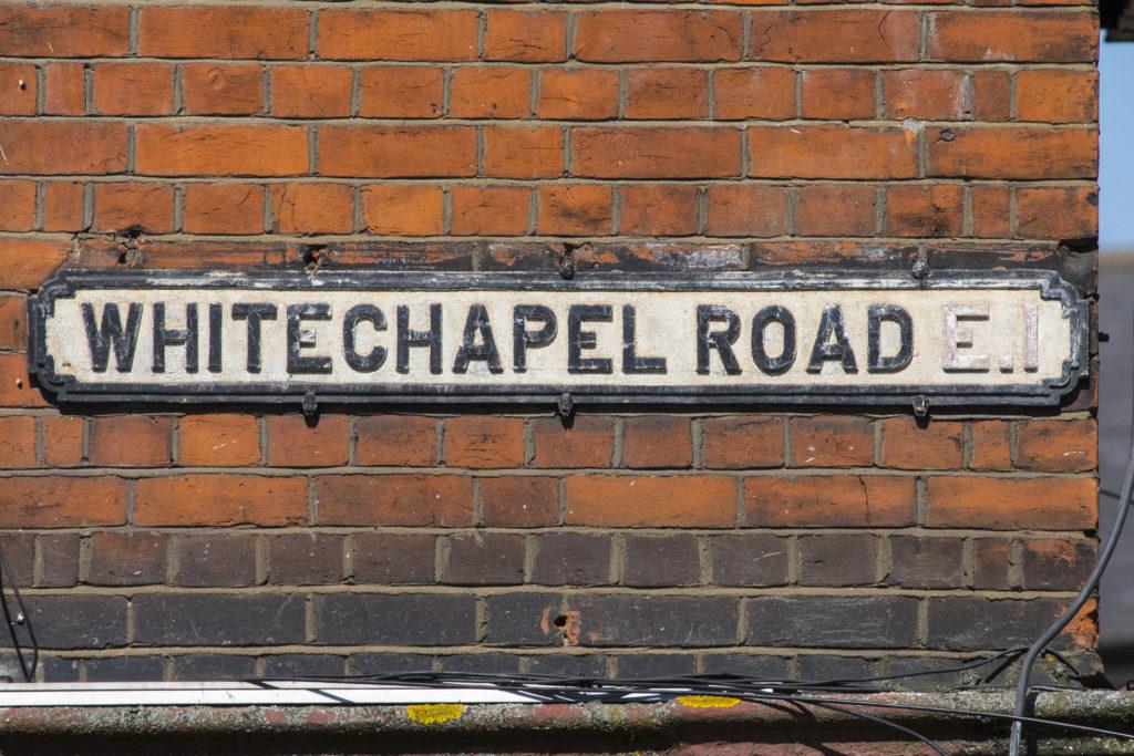 Whitechapel Road in London, UK